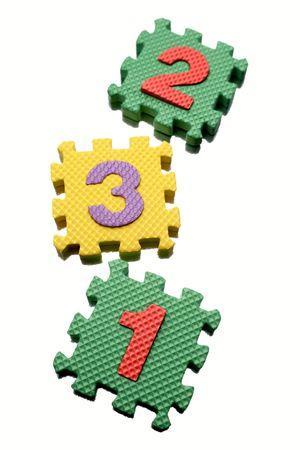 Number learning blocks on white Stock Photo - 5182048