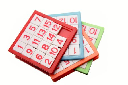 Number puzzles isolated over white Stock Photo - 5182115