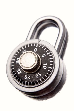 Combination padlock isolated over white Stock Photo - 5182119