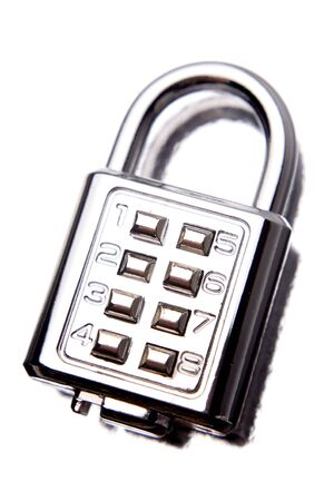 Combination lock on white background Stock Photo - 5182287