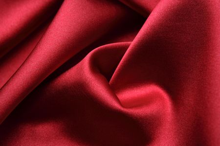 Red silk fabric photo