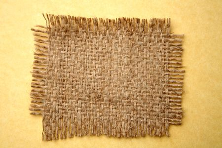 frayed: Piece of frayed burlap