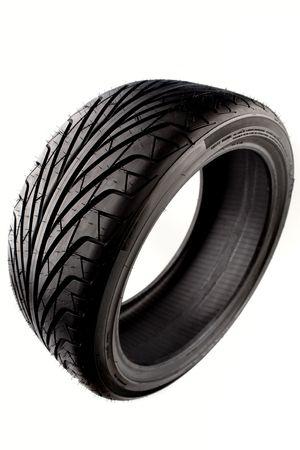 Tire geïsoleerde over witte achtergrond