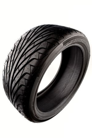 Tire isolated over white background Stock Photo - 5236901
