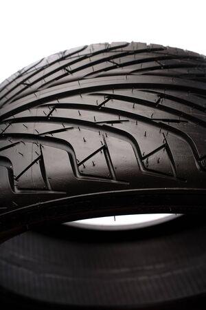 Closeup of brand new tire Stock Photo - 5292547