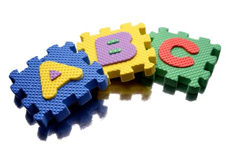 Alphabet learning blocks isolated over white Stock Photo - 5292542