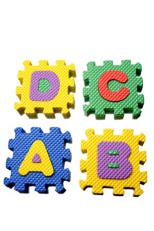 studio b: Alphabet learning blocks isolated over white