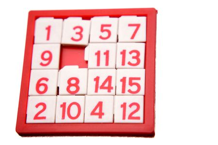 Numbers puzzle isolated over white Stock Photo - 5292517