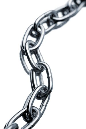 chainlinks: Steel chain links on white background
