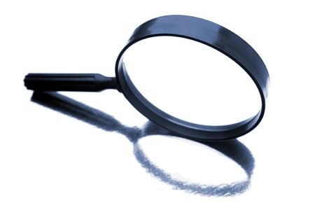 Magnifying glass isolated over white background Stock Photo - 5323892