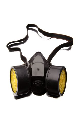 Respirator isolated over white background photo