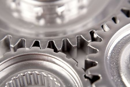 Closeup of steel cogs Stock Photo - 5350660
