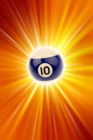 numero diez: El n�mero diez bolas de billar sobre fondo claro