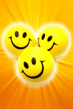 three colors: Smiley faces