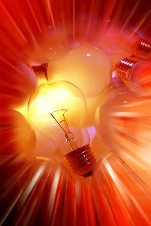 efectos especiales: Una bombilla de luz brillante de efectos especiales