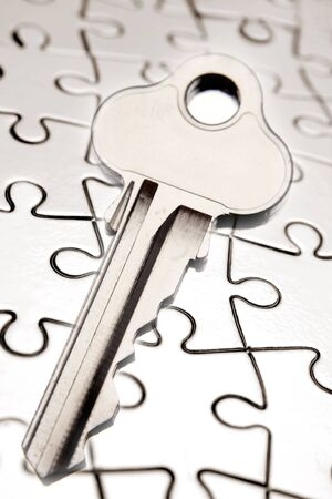 Key on jigsaw puzzle Stock Photo - 5452509