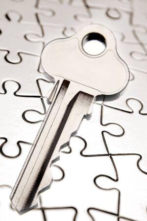 Key on jigsaw puzzle Stock Photo - 5452509