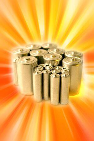 throwaway: Batteries  Stock Photo