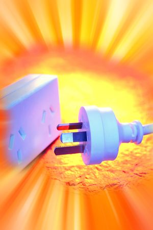 Electrical plug and power-board  Stock Photo - 5452533