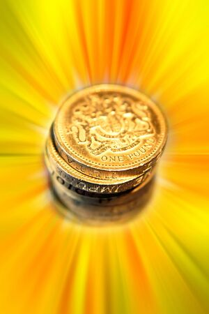 pound coins: One pound coins
