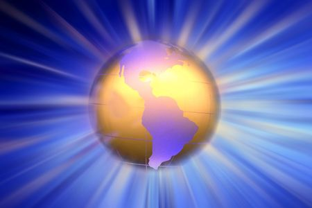americas: Americas on globe
