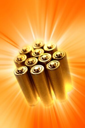 energize: Batteries  Stock Photo