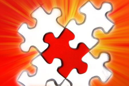 Jigsaw puzzle pieces Stock Photo - 5635326