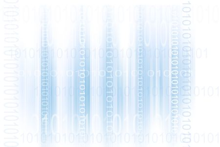Binary codes on blue and white abstract background photo