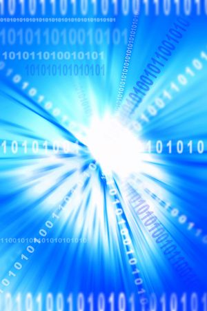 Binary coding on blue abstract background Stock Photo - 5678147