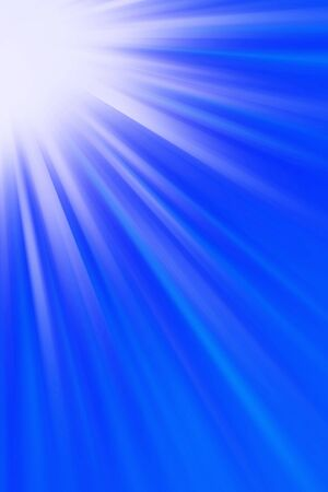 godlike: Bright light shining on blue background