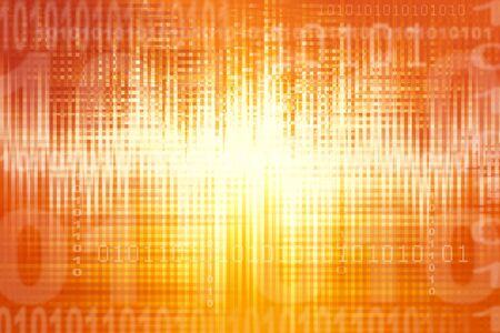Binary coding on abstract orange background Stock Photo - 5702795