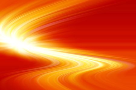 Flowing orange color abstract background. photo