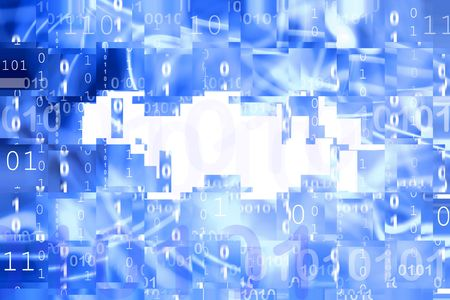 Binary codes on abstract blue background Stock Photo - 5749407