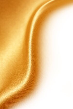 Silk material on white background. Copy space. Stock Photo - 5784688