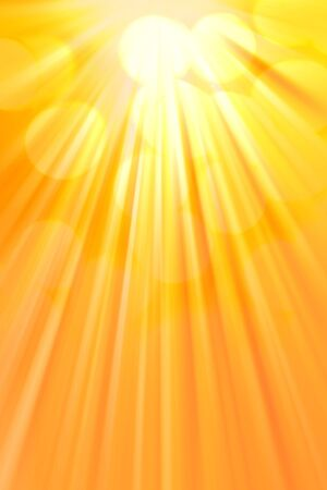 Bright rays of warm light. Abstract vertical background photo