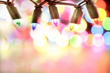 Colorful Christmas lights  photo