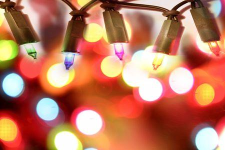 Colorful Christmas lights  photo