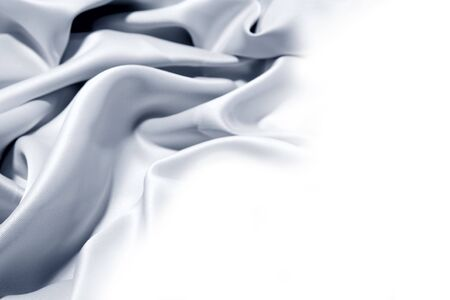 Silk fabric on white background. Copy space Stock Photo - 5832798