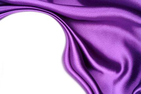 purple silk: Tejido de seda sobre fondo blanco. Copiar el espacio Foto de archivo