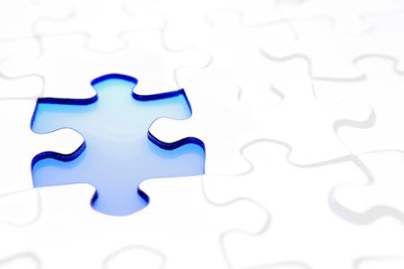 missing link: Gap in jigsaw puzzle
