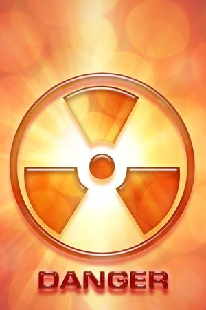 Radioactive warning sign of danger. Stock Photo - 5919623