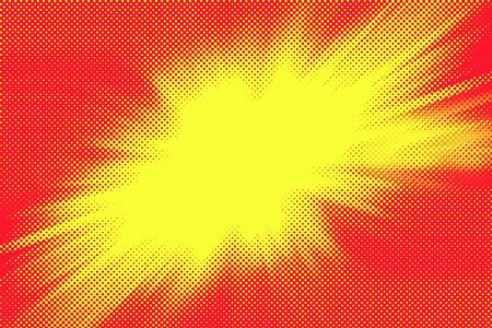 blasting: Bright yellow explosion graphic on red