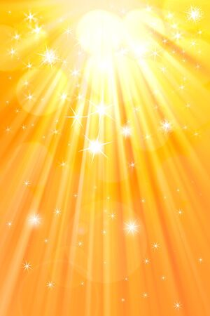 Bright rays of light and stars. Abstract background. photo