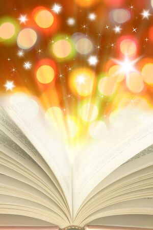 Open book and colorful lights Stock Photo - 5936531