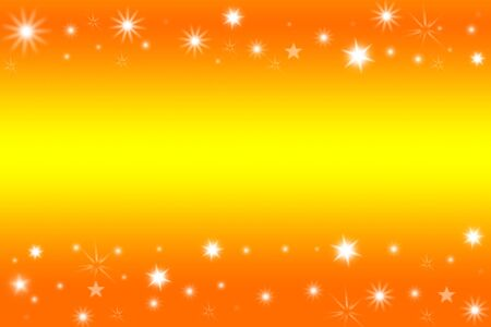 starlit: Stars on yellow and orange tone background. Copy space.