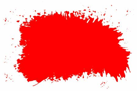 Red splatter on white background. Copy space. Stock Photo - 5960946