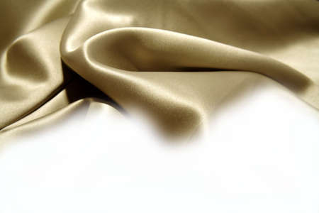 Silk fabric on white background. Copy space    Stock Photo - 5960954