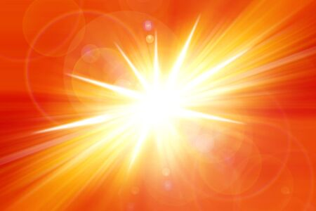 detonate: Bright blast of orange and yellow light. Copy space. Stock Photo