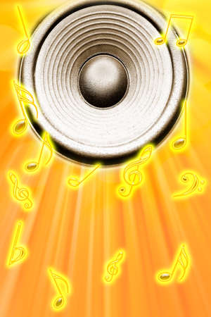 Loud speaker and music notes. Stock Photo - 5998013