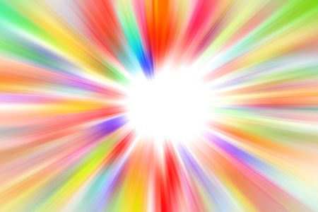 kaleidoscope: Colorful blurs on white background. Copy space middle. Stock Photo